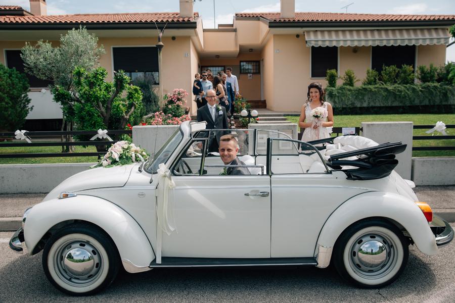 Renato Zanette Fotografo - Matrimonio - Storytelling - Mareno di Piave - Castelbrando -maggiolino