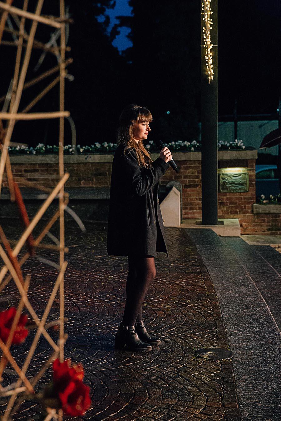 Renato Zanette fotografo per eventi storytelling Cipria Show no alla violenza sulle donne Federica Moratto