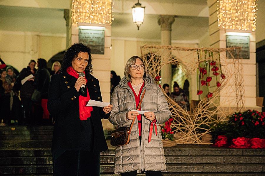 Renato Zanette fotografo per eventi storytelling Cipria Show no alla violenza sulle donne Simonetta Busatto e Livia Miatto