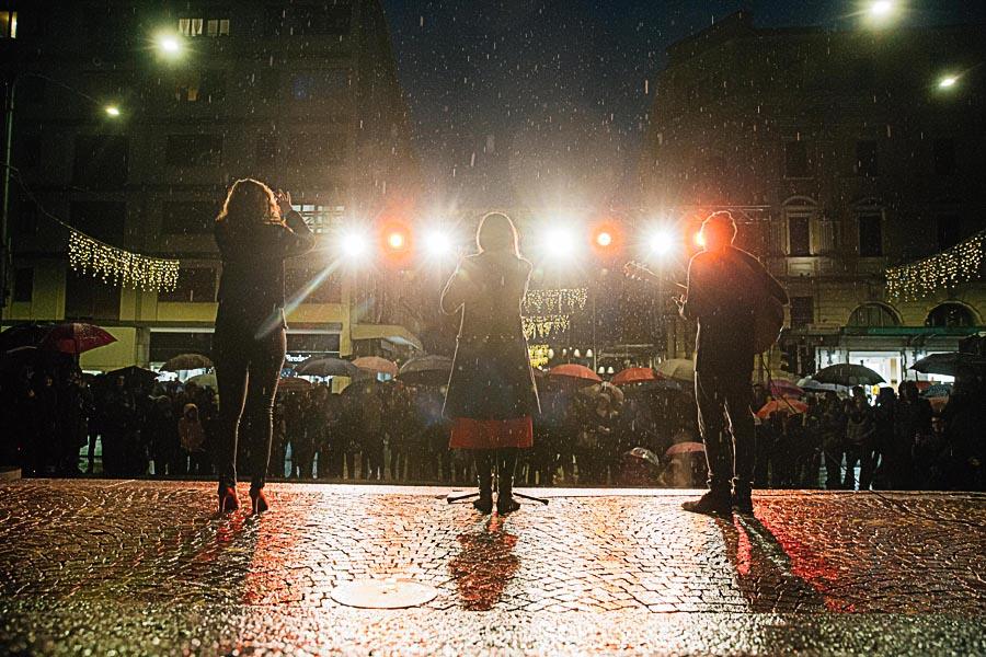 Renato Zanette fotografo per eventi storytelling Cipria Show no alla violenza sulle donne Sara e Francesco