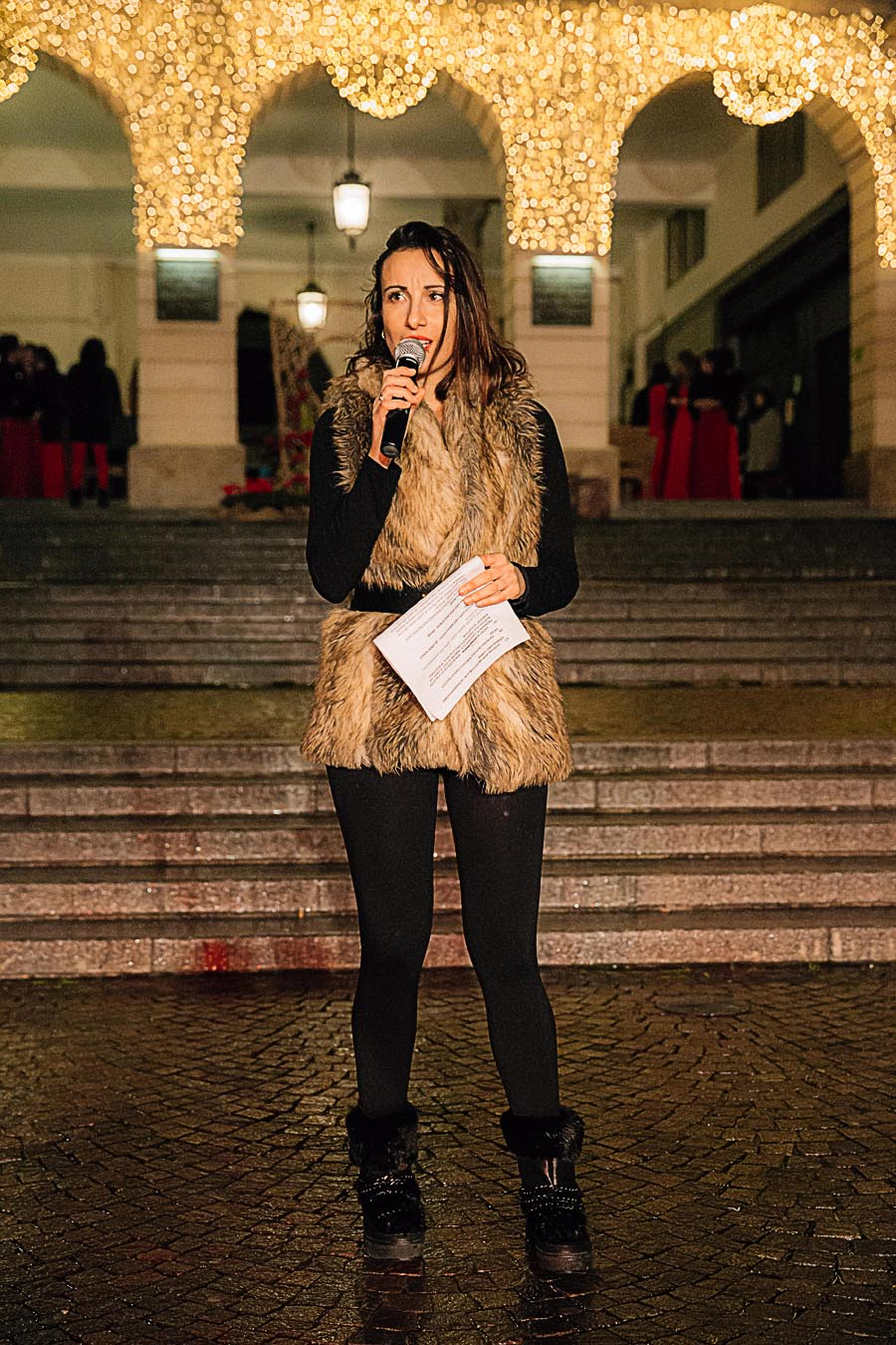 Renato Zanette fotografo per eventi storytelling Cipria Show no alla violenza sulle donne Irene Guglielmi